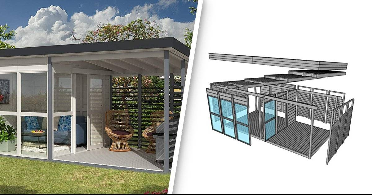 Amazon Is Selling A Cool DIY Guest Backyard That Can Be Built In 8 Hours Only