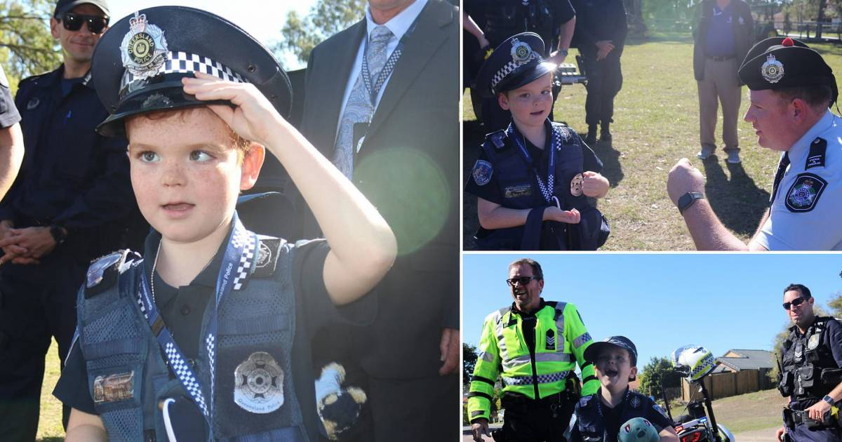Police Pays Tribute To A Young Boy Who Died Of Brain Tumor And Wanted To Join The Local Police Forces