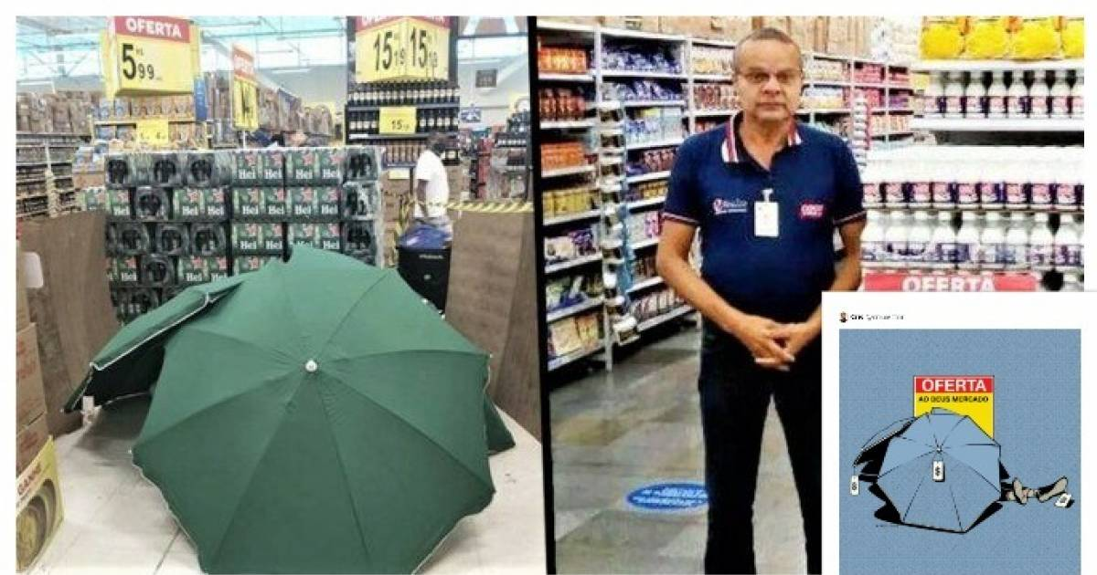 Worker died from a heart attack during his shift, fellow workers covered his body with umbrellas for hours and carried on with the sales