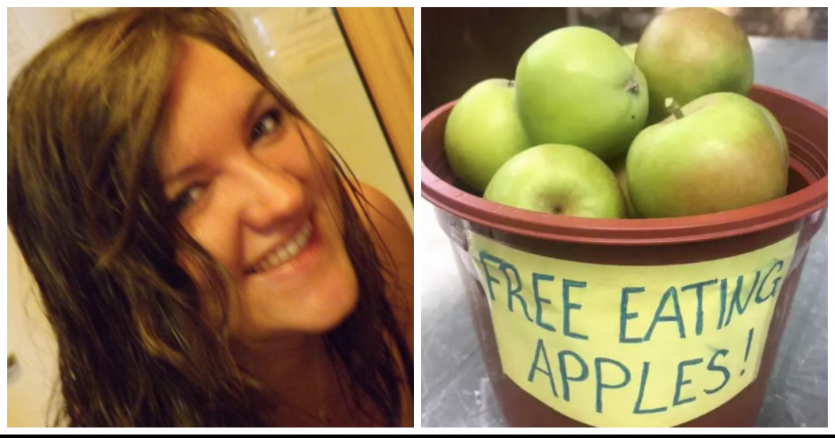 Nurse Fined 200$ Just For Leaving Free Apples Outside Her House For The Neighbors