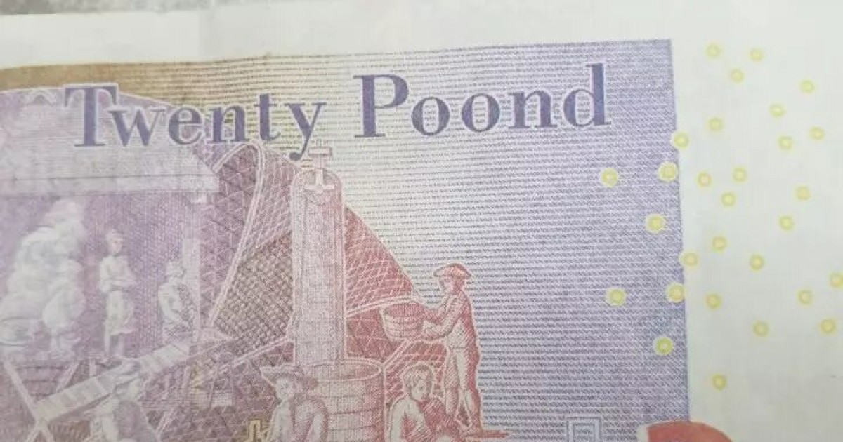 Scammers In UK Try To Trick Shop Workers With Fake 'Twenty Poond' Notes
