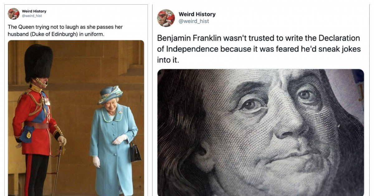 This Twitter Account Shares Weirdly Funny Things That Happened Throughout History
