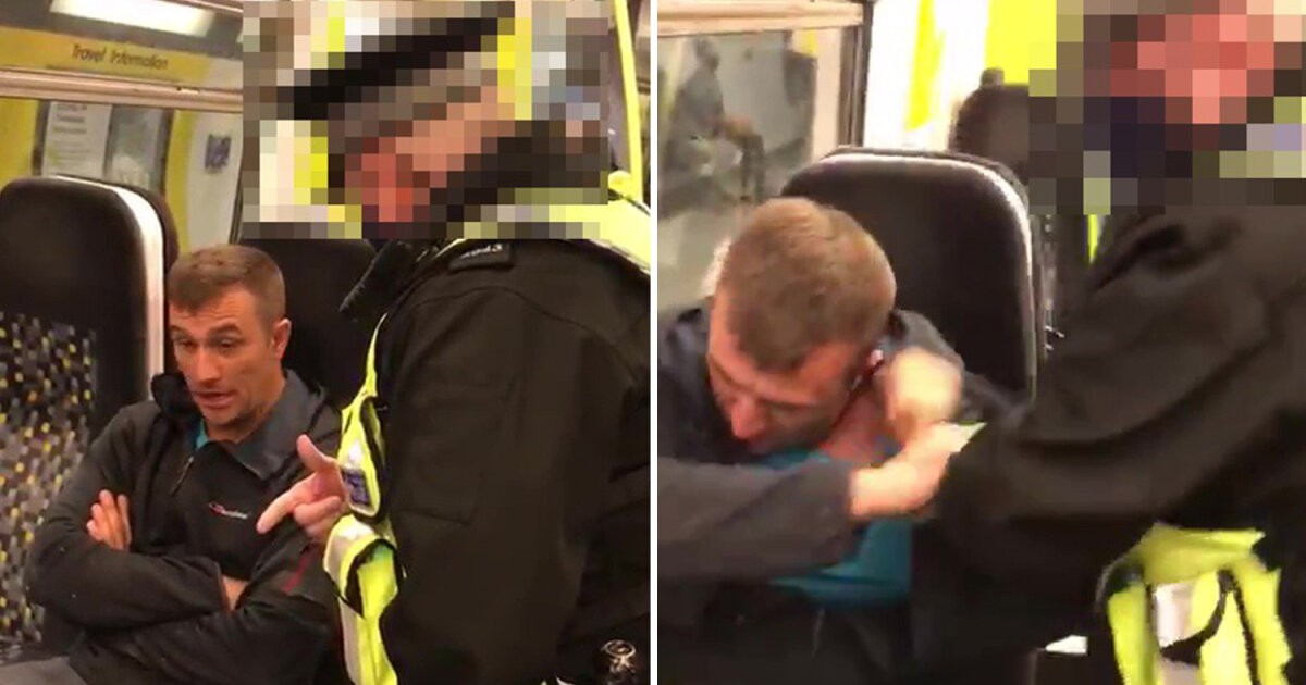 Police Use Pepper Spray On A Man Who Refused To Wear Facemask Over Alleged Medical Condition