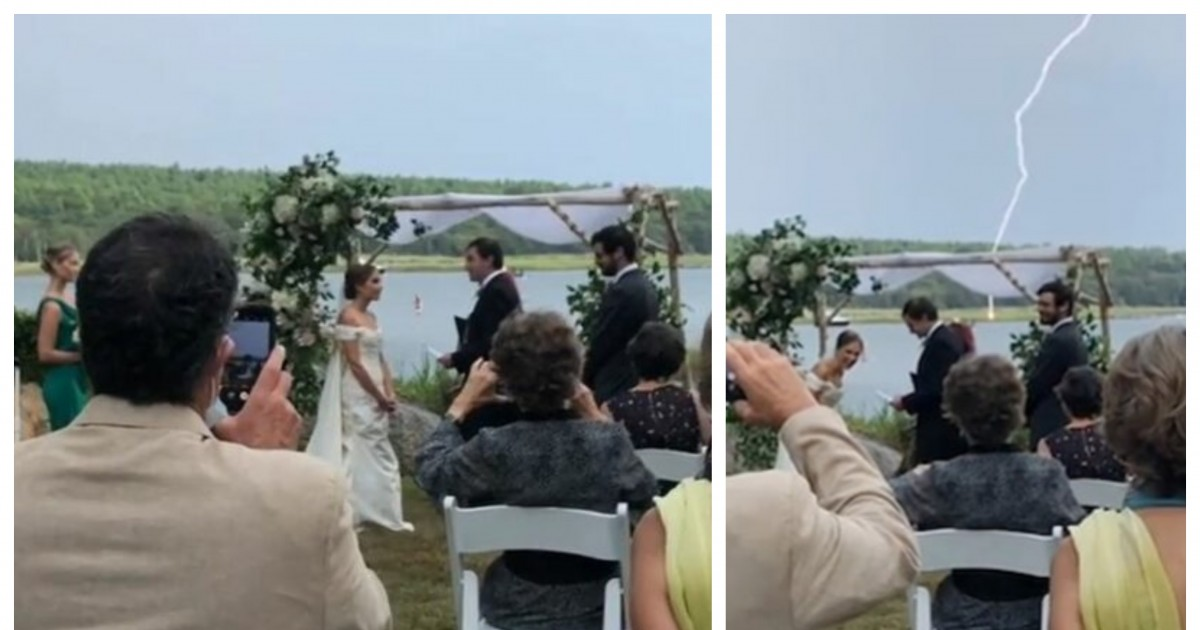 A Huge Bolt of Lightning Strikes Right Next To The Groom Just As He Curses 2020