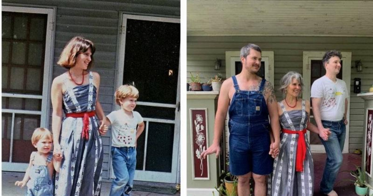 32 Pics Show People Recreating Their Mother's Looks To Honor Mother's Day
