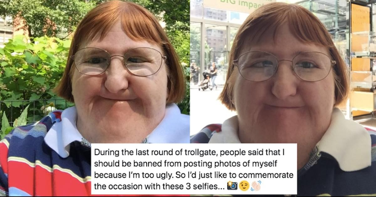 Woman Told She Is 'Too Ugly' To Share Her Picture Posts A Selfie Every Day For A Year