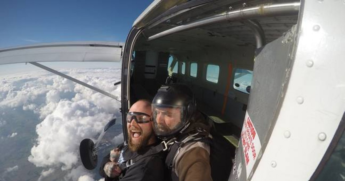 Man Overcomes Fear Of Heights By Skydiving To Raise Money For His Terminally Ill Stepson