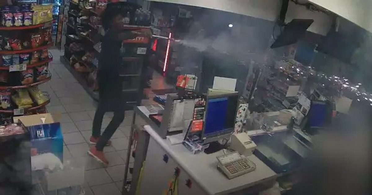 Crazy Man Shoots Fireworks At Petrol Station Worker As Accomplice Films Assault