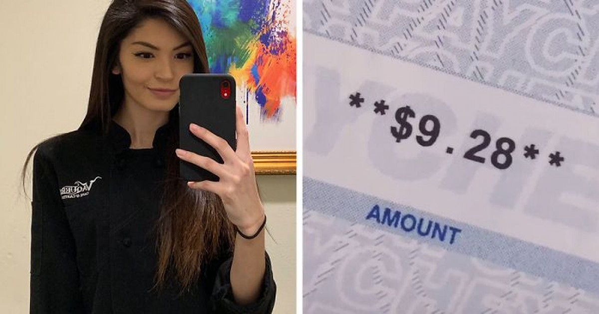Mom Shares On Tik Tok Her $9.28 Paycheck She Got After Working For 70 Hours As A Waitress And Internet Has Mixed Response
