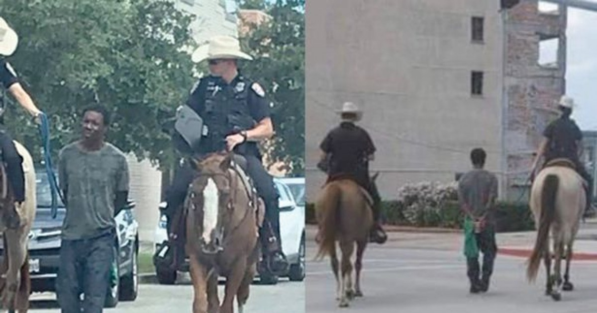 Black Man Suing Texas City White Police For $1M After Cop Led Him Through Streets On A Rope