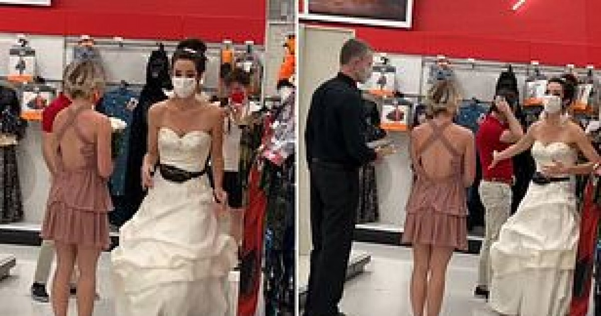 Woman In Bridal Dress Marches Into Target Store To Force Man To Marry Her
