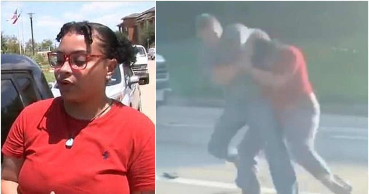Horrific Footage Shows White Man Fighting With A 20-Year-old Woman After She 'Cut Him Off' In Traffic