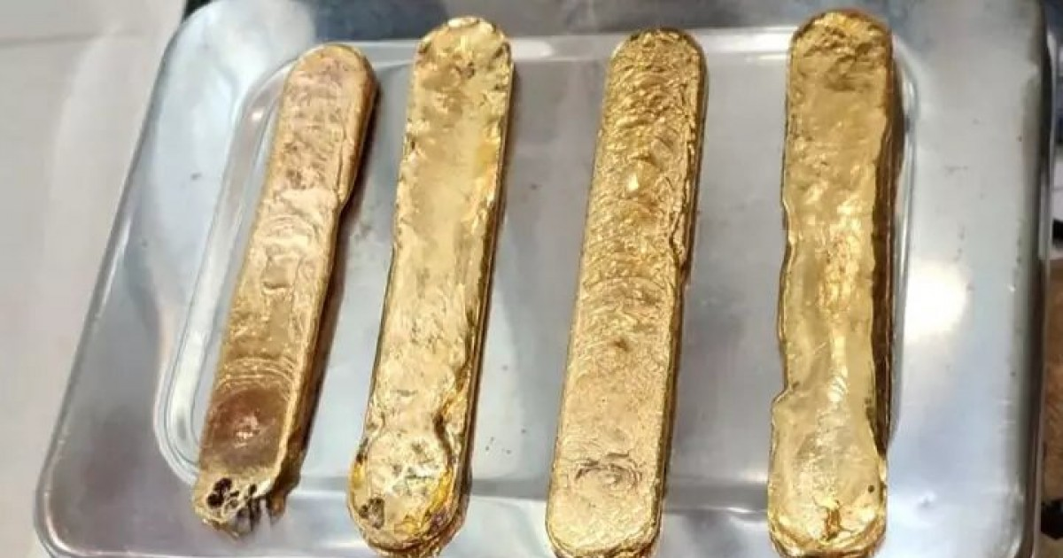 Man Arrested On Airport For Awkwardly Hiding More Than A Kilogram of Gold Up His Butt