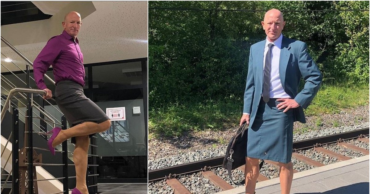 Happily Married Man With Three Kids Wears Tight Skirts And High Heels In Daily Life, Says He Wants To Proof Clothes Have No Gender