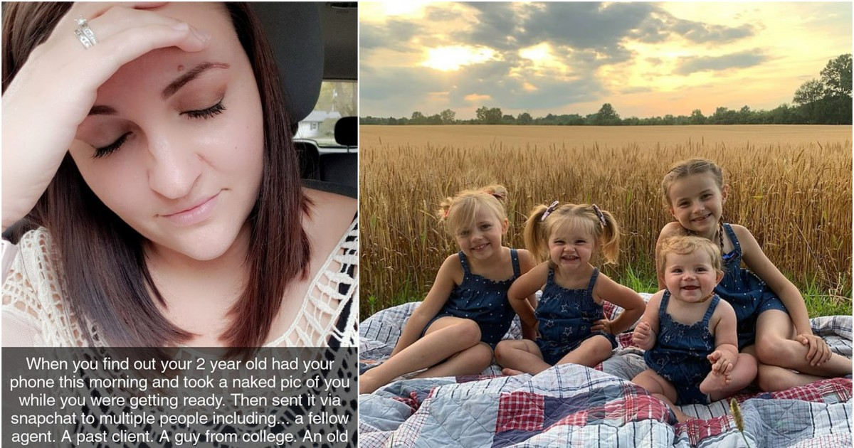Mama Of Four Left 'Mortified' After Toddler Took A Picture Of Her Bare Bottom And Sent It To All Her Snapchat Contacts