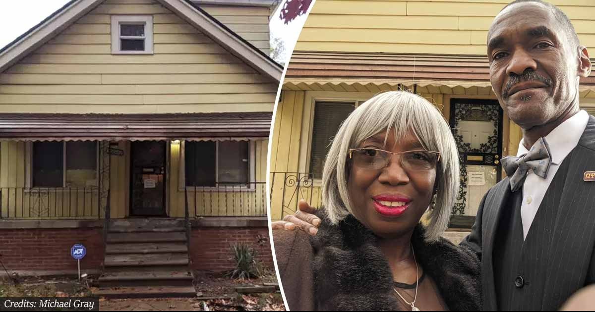 Homeless Detroit Man Bought An Abandoned House For $1,500 And Spent 10 Years Renovating It For His Wife