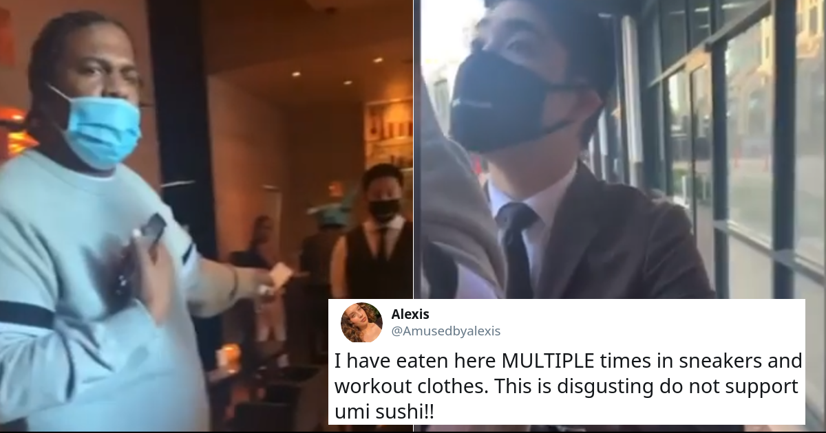 Black Man Kicked Out Of Sushi Restaurant For Wearing Sneakers Shows The Double Standards Of The Society