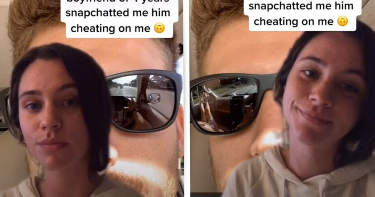 Woman Discovers Her Boyfriend Is Cheating On Her Through Reflection In The Sunglasses