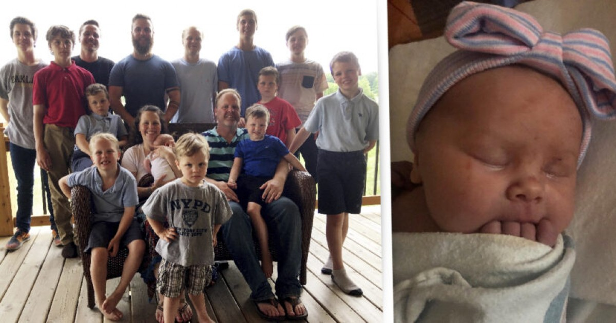 Michigan Couple Welcomes Their First Baby Daughter After Having 14 Boys In A Row