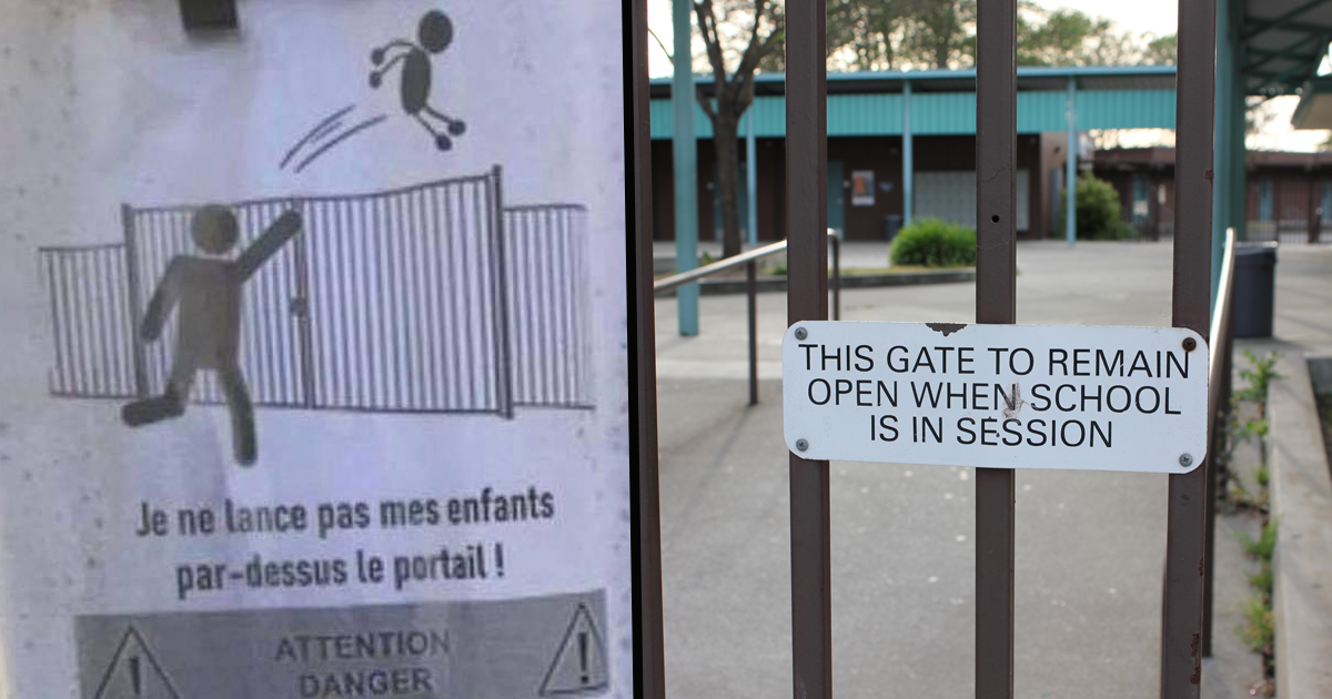 French School Forced To Ban Parents From Throwing Their Children Over The Gate If They're Running Late