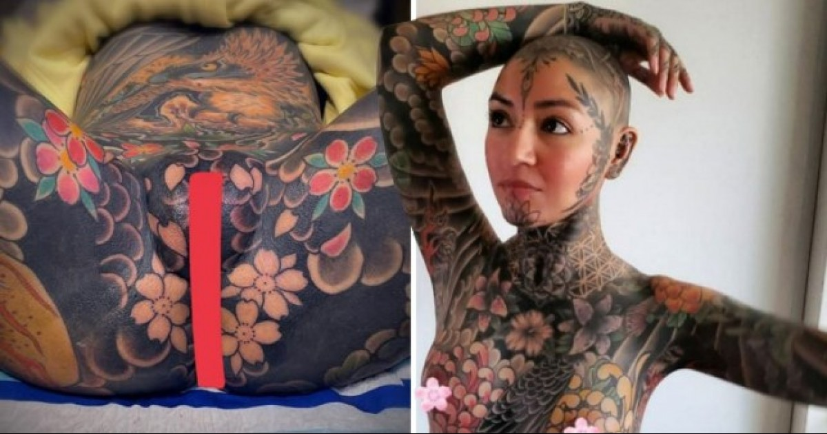 Woman Spends $25,967 To Get Her Whole Body Inked Including Genitals