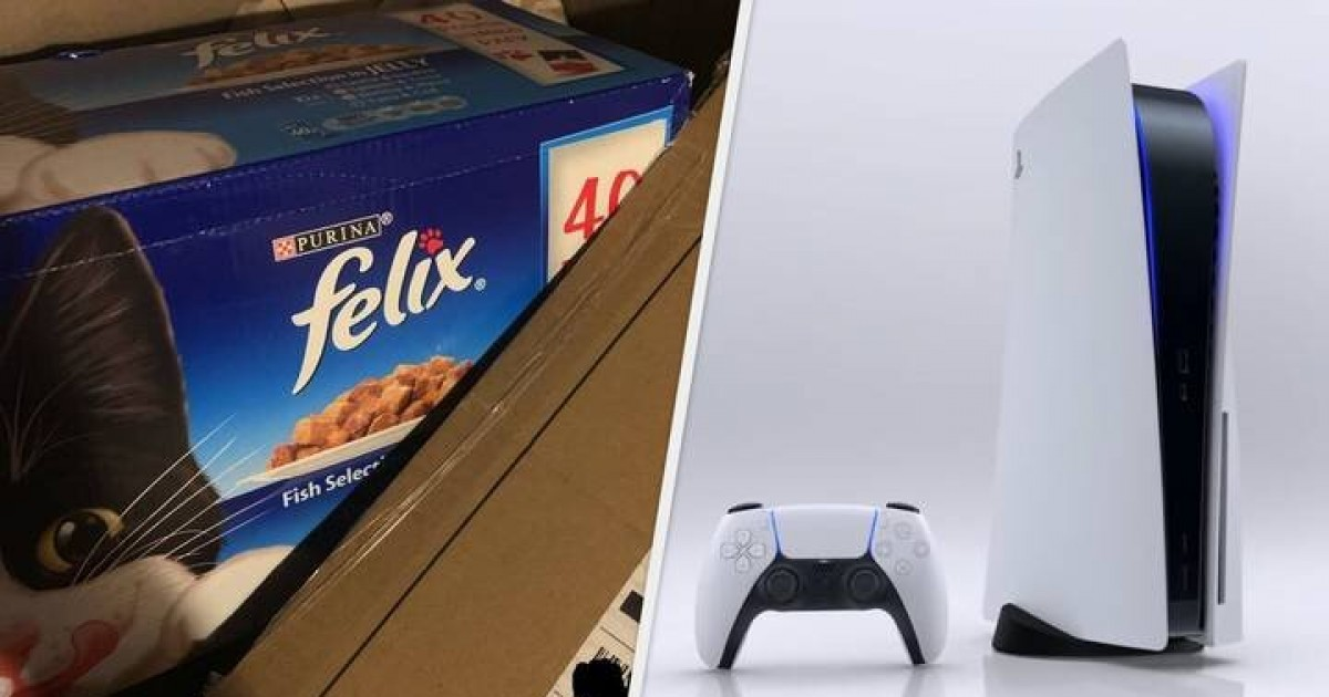 Amazon Apologises As Customers Receive Cat Food Instead Of PlayStation 5