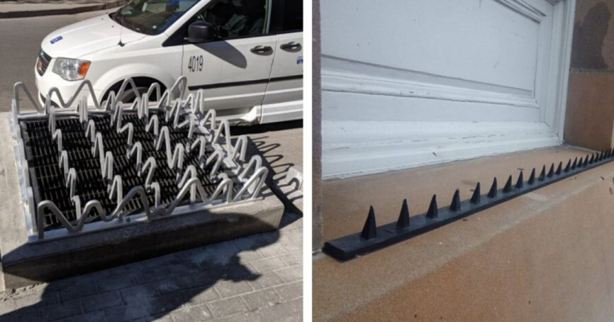 10 Egregious Examples of 'Anti-Homeless' Hostile Architecture That You Probably Never Imagined Before