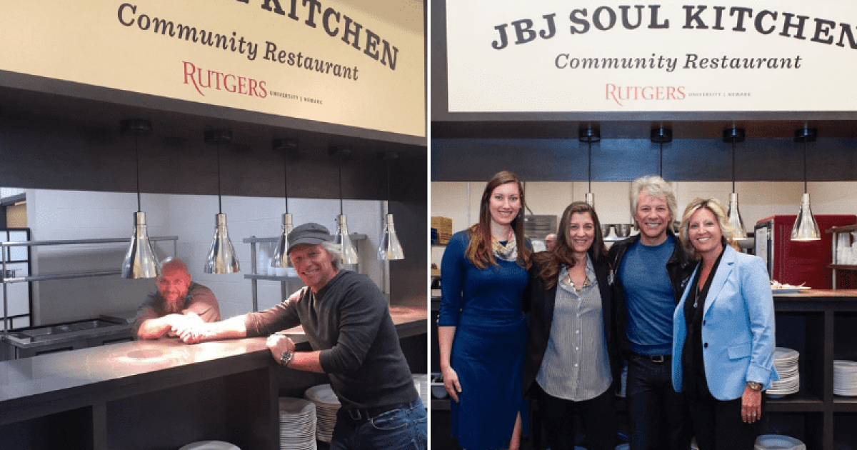 Rockstar Bon Jovi Opens His Third Soul Kitchen At A University To Help With The Food Insecurity Among Students