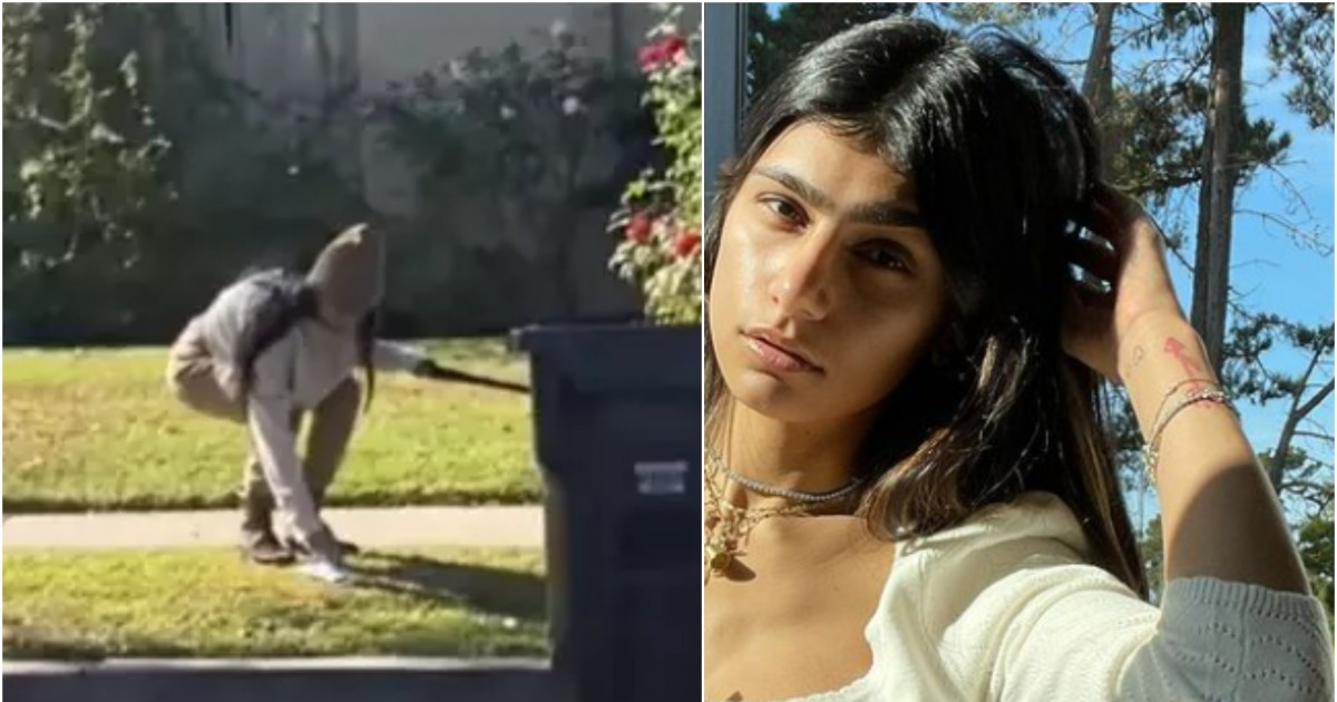 Viral TikTok Video Shows Mia Khalifa Picking Up Poo With Mask Before Putting The Mask Back On Her Face