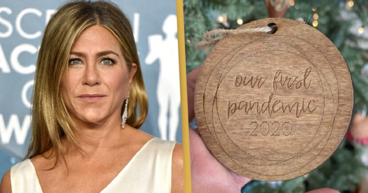 Jennifer Aniston Is Being Criticized For Decorating Her Christmas Tree With Bauble That Has Words 'Our first pandemic 2020' Engraved On It