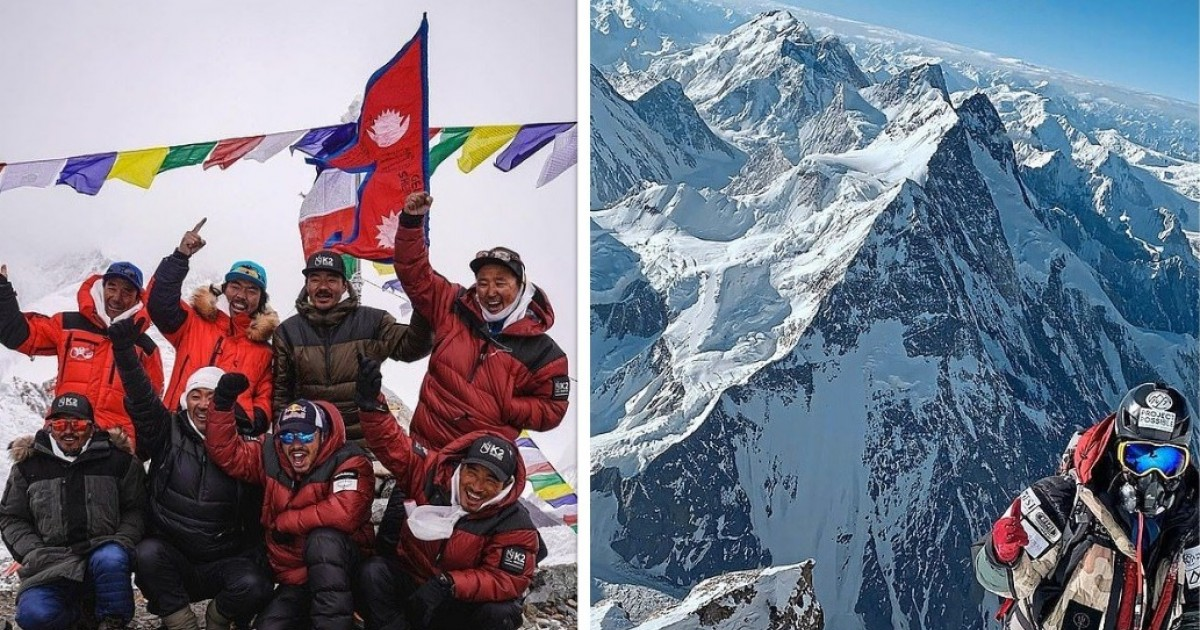 Nepalese Climbers Make History Climbing The Deadly K2 In Winter