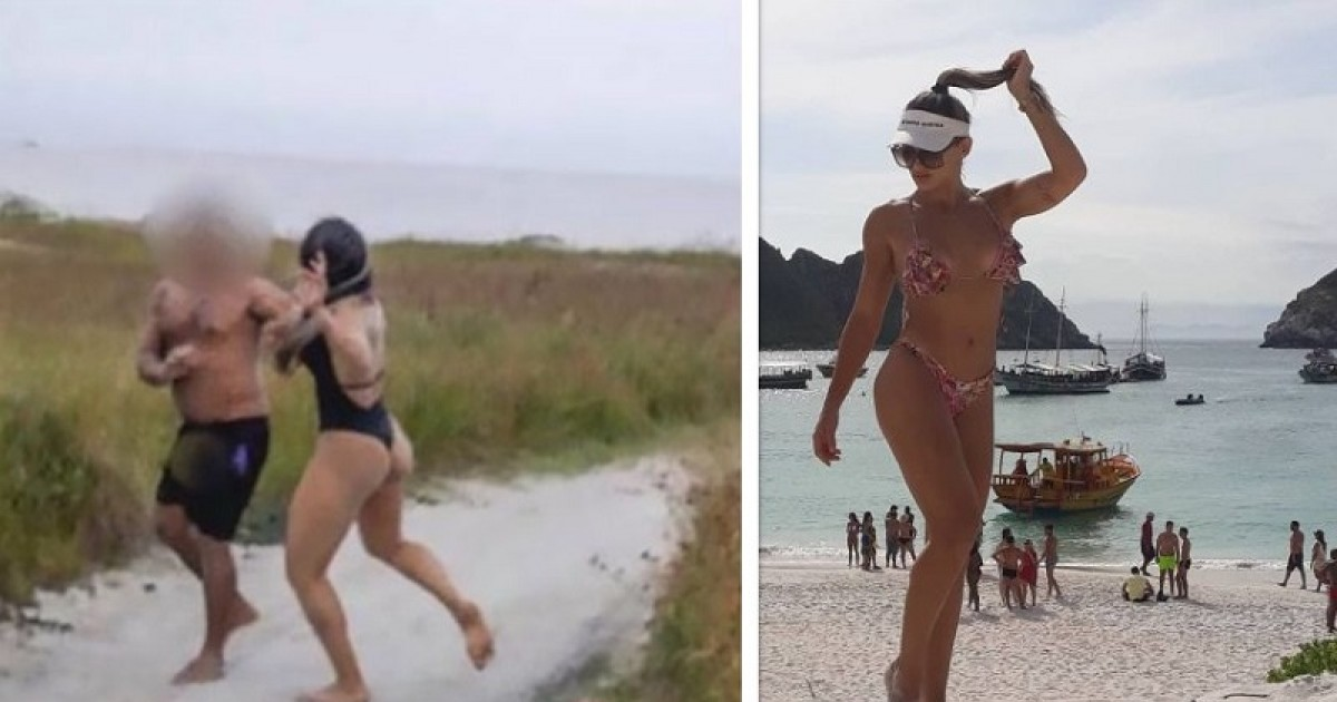 Female MMA Star Snapped Punching Pervert Who Exposed Himself To Her During Photoshoot