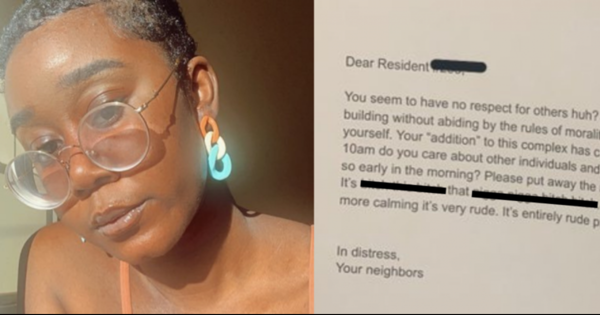 Black Boston Woman Receives Racist Letter From Neighbor Complaining About Her Using Blender At 10 am
