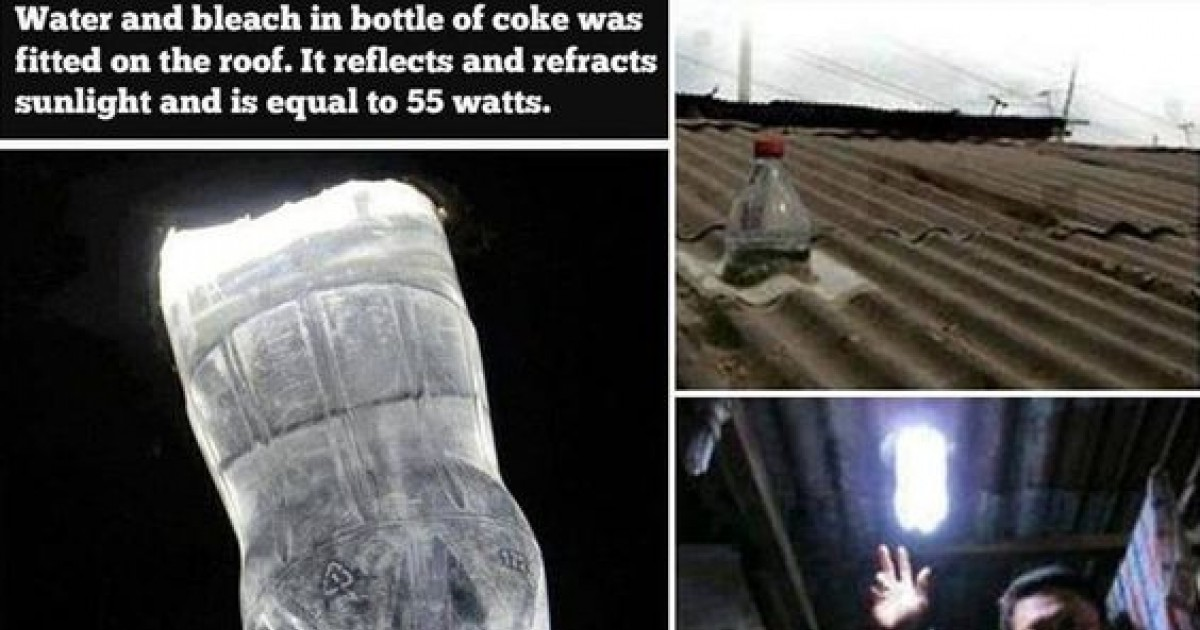 People Without Electricity Are Turning Bleached Plastic Bottles Into Lights For Their Home