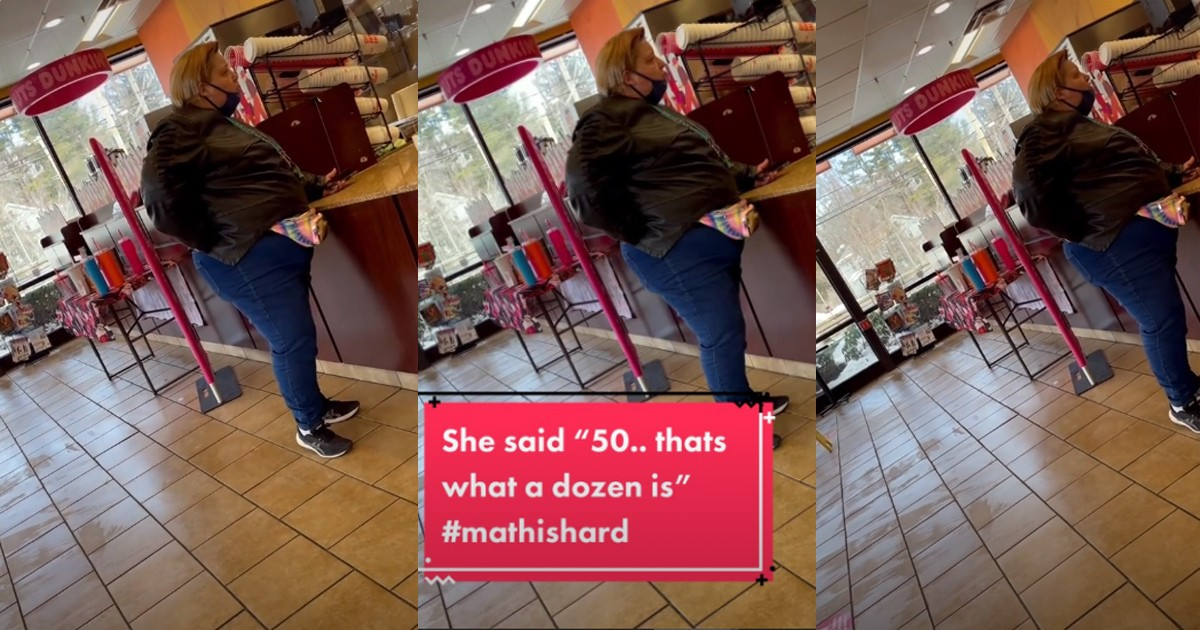 'karen' Loses Her Mind At A Dunkin Donuts When She Doesn't Know What A Dozen Is