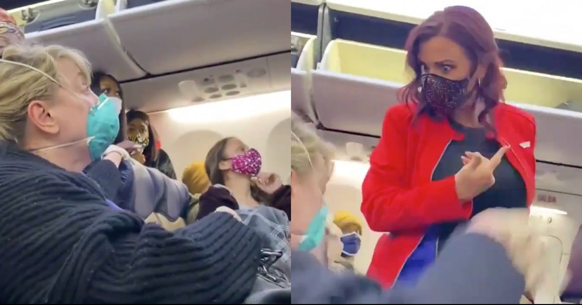 A Racist 'Karen' Caught On Camera Pretends To Be Attacked By Black Woman On Airplane