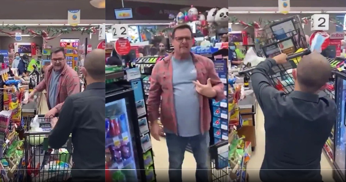 An Anti-masker Attacks Employee With Shopping Cart When Told To Put One On