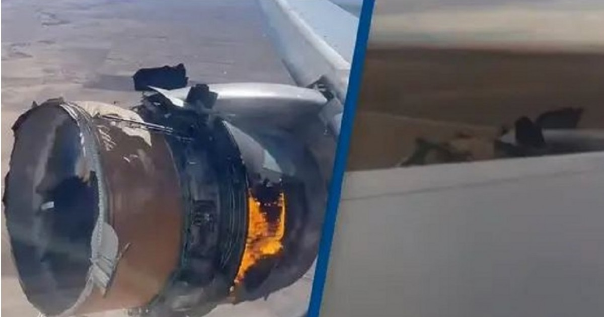Terrified United Airlines Passengers Cheer As Hero Pilot Executes 'Textbook' Emergency Landing After Engine Catches Fire
