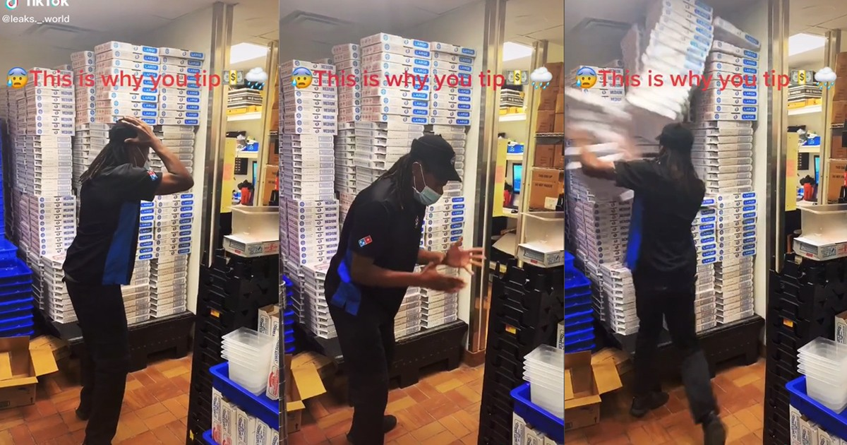 Dominos Delivery Driver Has Complete Meltdown Over Not Receiving A Tip