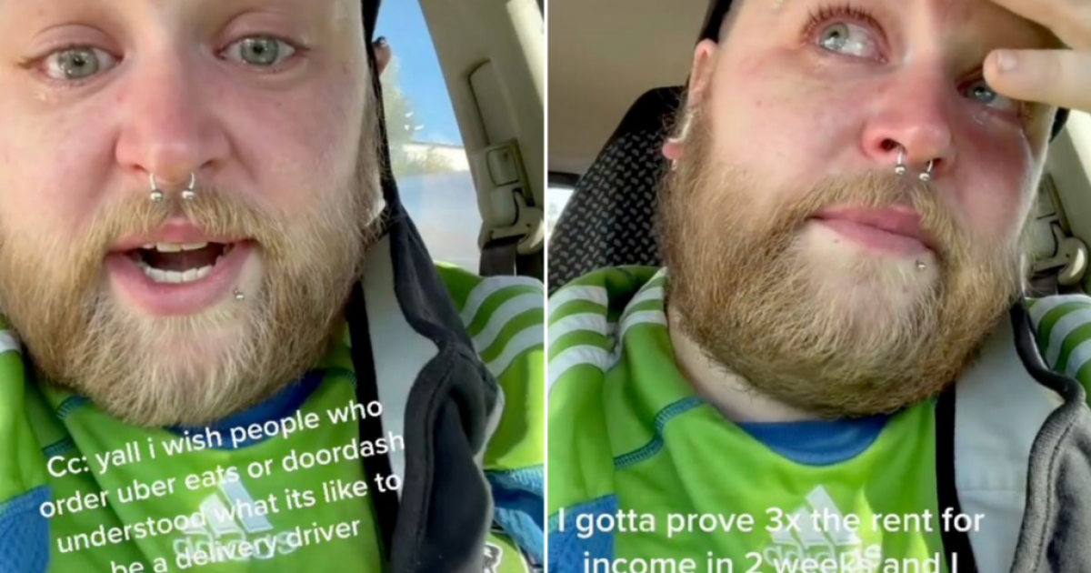 UberEats Driver Facing Homelessness Posts A Tearful Video Asking People To Leave Tips For Struggling People Like Him