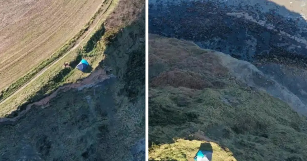 A Couple Slammed For Camping With Child On Edge Of Cliff In Yorkshire