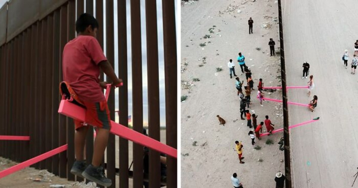 Pink Seesaw At US-Mexico Wall Wins The 'Best Design Award' Of The Year 2020
