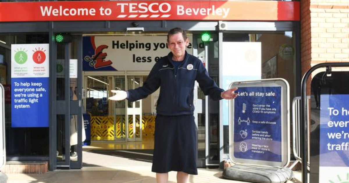 Tesco Worker 'Happier' And Can 'Finally Be Himself' After Wearing Skirt To Work