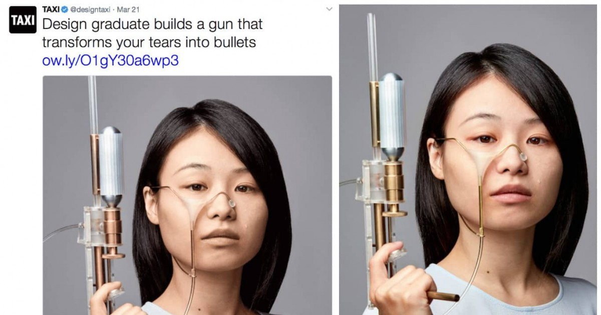 Designer Creates A Gun That Will Turn Your Tears Into Bullets To Shoot Those Who Made You Cry