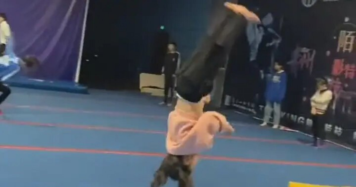 Incredible Video Shows 6-Year Old Girl Smashing Five Backflips In A Row