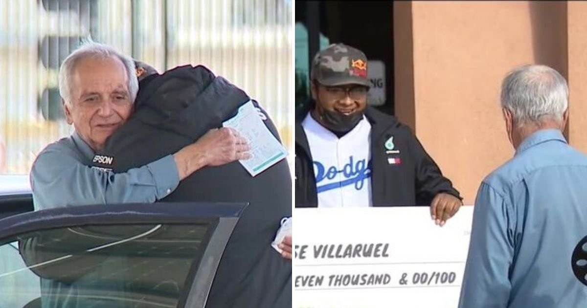 77-Year Old Substitute Fontana Teacher Who Lives In Car Gifted $27,000 Cheque By Former Student
