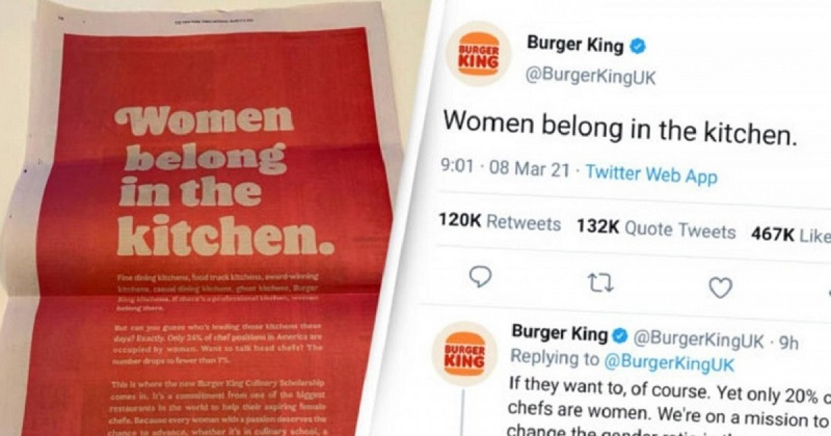 Burger King Dishes Out $65,000 For 'Tone Deaf And Sexist' Ad Promoting $25,000 Scholarships