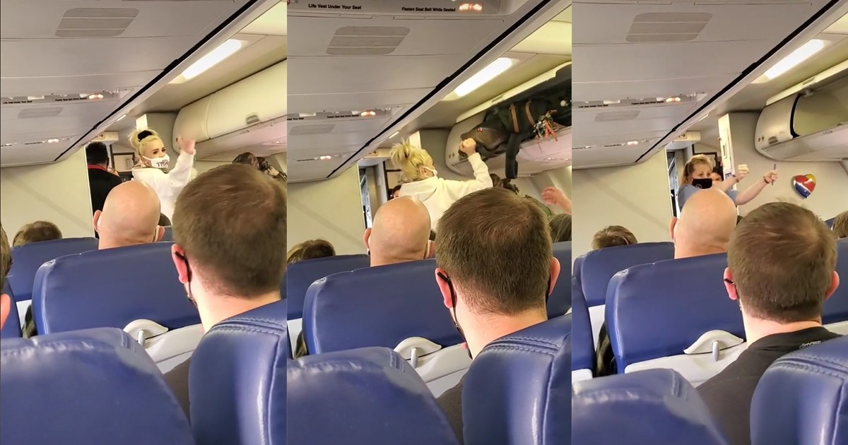 Flight Attendant Dances In Celebration As Anti-masker Is Kicked Off Plane