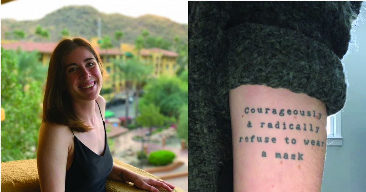 Woman Accidentally Got The Most Unfortunate Pandemic-Era Tattoo That Too Long Before People Were Told To Wear Masks