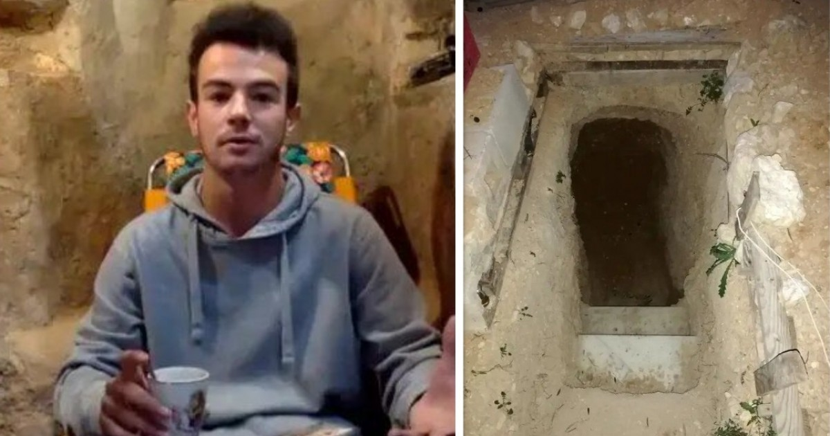 20-Year-Old Spends Six YEARS Digging A Hole In The Garden After A Fight With His Parents